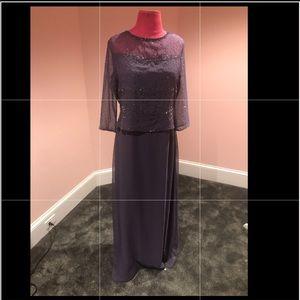 Vintage sheer beaded gown